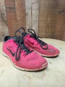 newest 88cd7 57b18 Image is loading NIKE-FREE-5-0-WOMENS-SIZE-8-Pink-