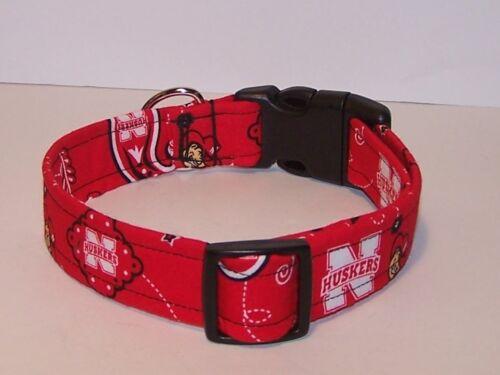 Wet Nose Designs University of Nebraska Bandana Dog Collar NCAA Cornhuskers