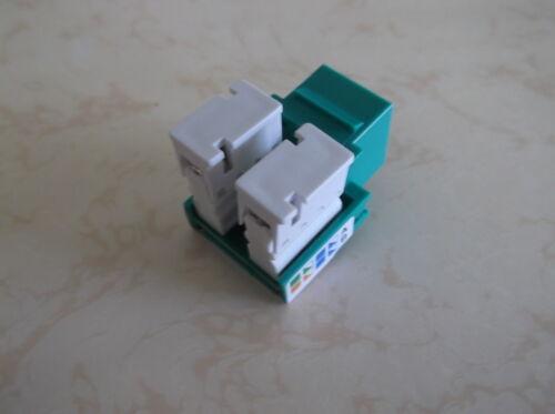 50 Pack Cat-5e Keystone Jacks in Green **TUFF JACKS QUALITY** Lifetime Warranty
