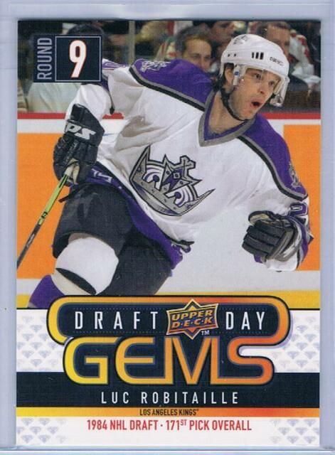 2009-10 UPPER DECK 1 LUC ROBITAILLE DRAFT DAY GEMS INSERT #GEM5 LA KINGS