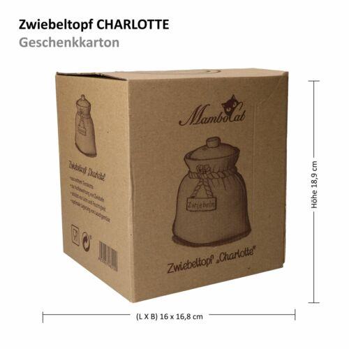 Zwiebeltopf Charlotte Terrakotta Vorratsdose mit Deckel natural Geschenkkarton