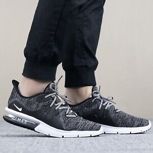 Details about NIKE AIR MAX SEQUENT 3 921694011 BALCK GREY MEN'S RUNINNG SHOES 100% AUTHENTIC