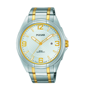 PULSAR-Men-039-s-Easy-Style-Collection-Two-Tone-Stainless-Steel-WATCH-PH9076