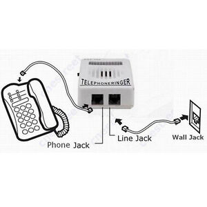 Telephone-Phone-Bell-Ringer-up-to-95dB-w-Strobe-Light-Flasher-Extra-Loud