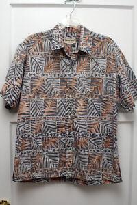 Vintage-Cooke-Street-Hawaiian-Shirt-Sz-M-Hawaiian-Tribal-Design