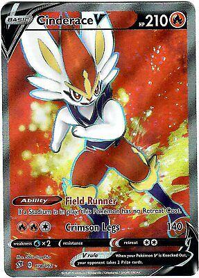 Cinderace V 178 192 Ultra Rare Full Art Pokemon