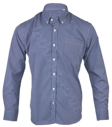 Homme en polycoton à carreaux plain chemise à manches longues doux travail casual m 2XL
