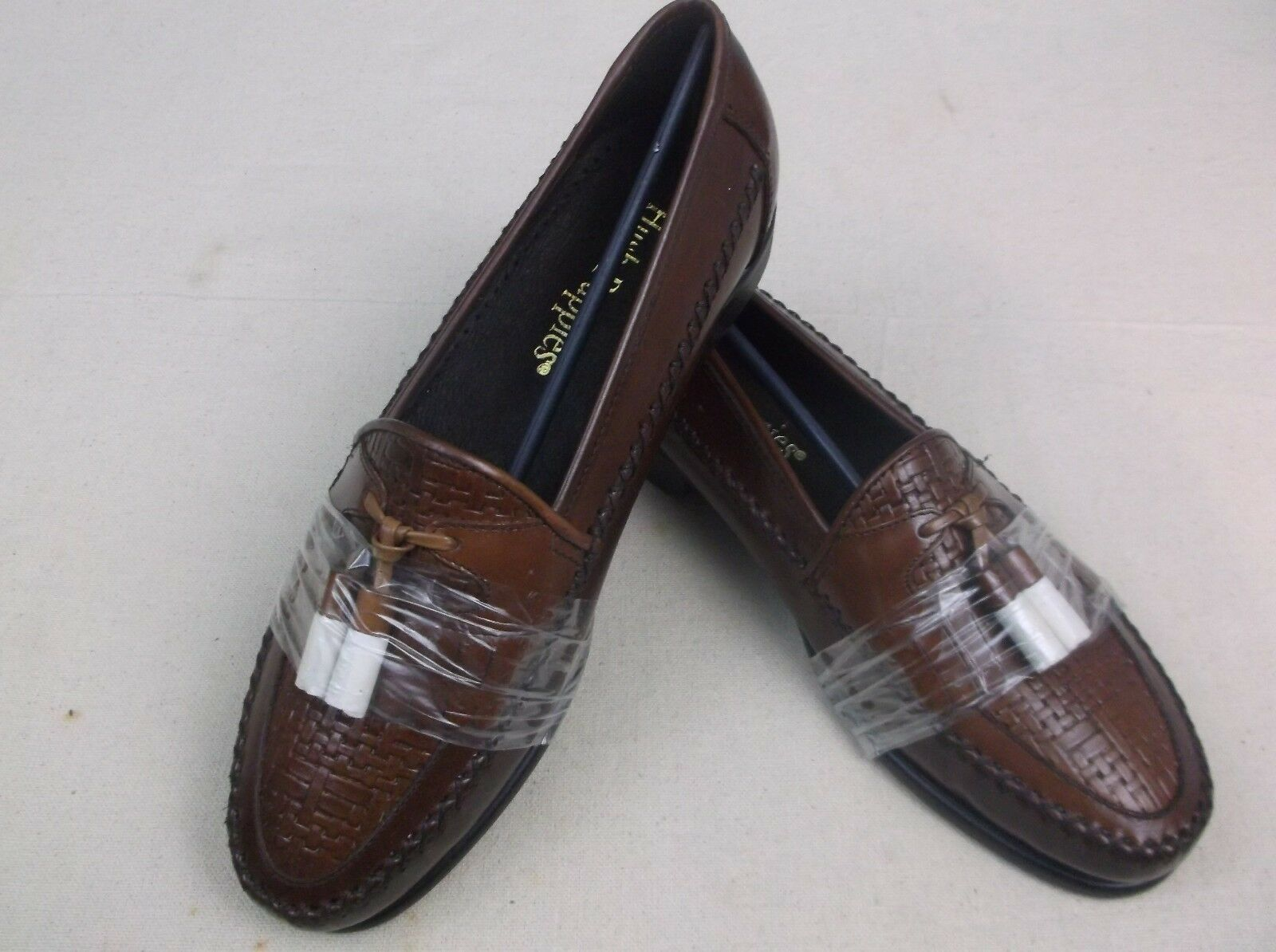 New Mens Hushpuppies Light Brown Tassel Loafers Sz 8 Shag Dancer Special   fw168