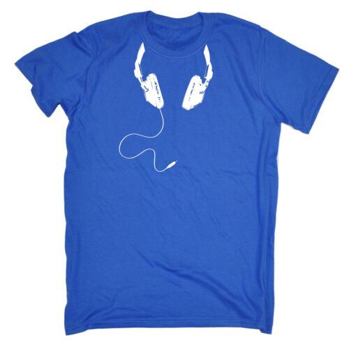 Headphone Cable Around Neck T-SHIRT Dj Disc Jockey Deejay Mc Rave birthday gift