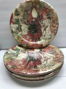 Lot 4 Punch Studio Dinner Plates Christmas Victorian (8 per Set), Discontinued!