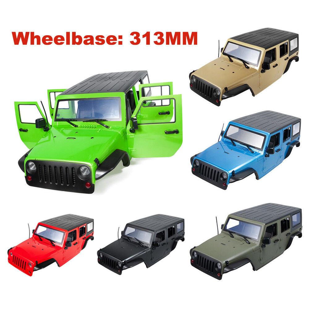313MM Wheelbase 1 10 RC Car Body Shell for Jeep Wrangler SCX10 II AX90046 90047