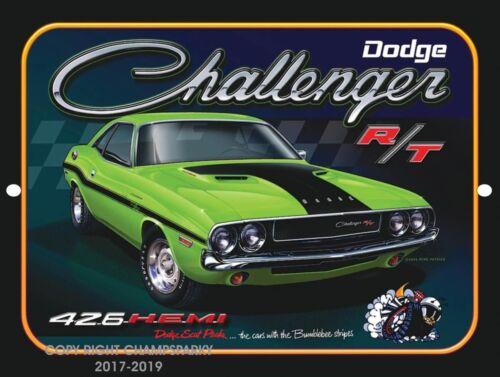 "DODGE CHALLENGER R//T HEMI 426 9/"" x 12/"" Aluminum Sign"