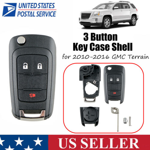 Replacement for GMC 2010-2016 Terrain Remote Car Key Fob Entry Case Shell