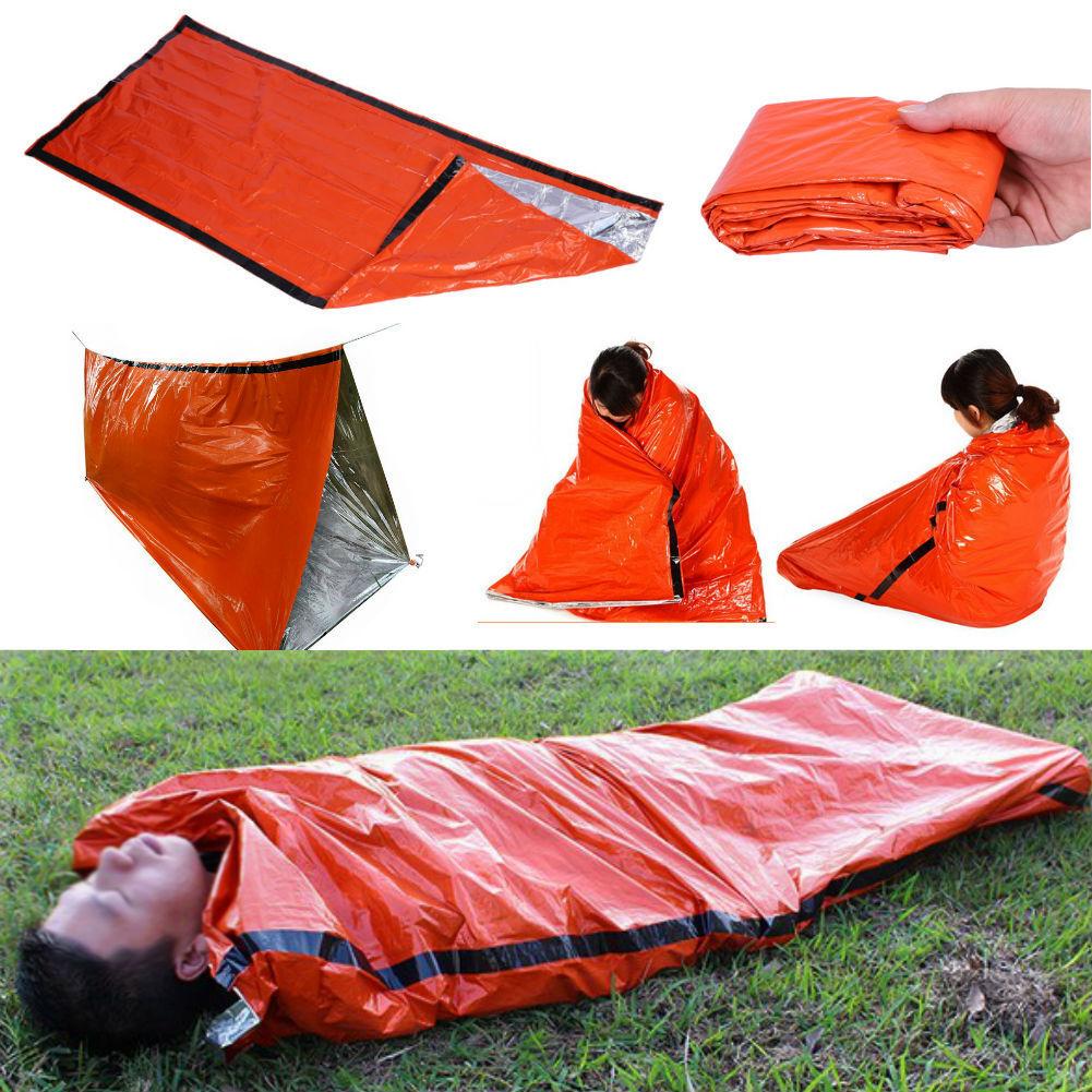 2X Emergency Sleeping Bag Thermal Waterproof For Outdoor Survival Camping Hiking