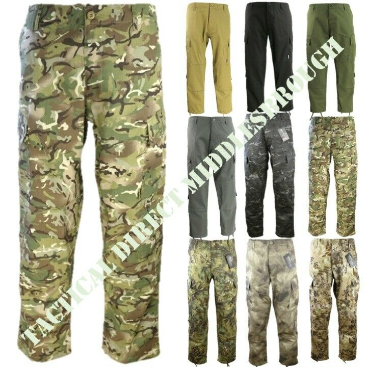 MENS ARMY COMBAT ACU TROUSERS S-2XL RIPSTOP CAMO CARGO PANTS BIKER WORKWEAR MTP