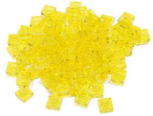 LEGO-100-x-Basic-Platte-1x1-transparent-gelb-transgelb-3024-NEUWARE-L13