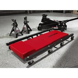Craftsmancreeper Set Kit W 3 Ton Hydraulic Floor Jack