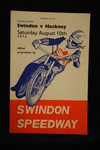 SPEEDWAY Swindon vs Hackney 10 Aug 1974