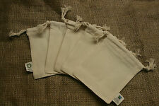 10 Baumwollsäckchen  Duftsack  Kräutersäckchen  Stoffbeutel, 10x14cm, bio & fair