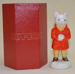 Beswick-Rupert-and-His-Friends-Figurine-Rupert-Bear-Snowballing-Rare-1982