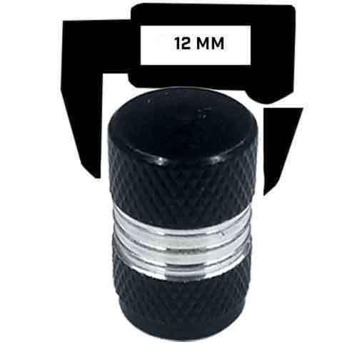 4 Black Billet Contrast Cut Knurled Tire Air Valve Stem Caps USA AMERICAN FLAG