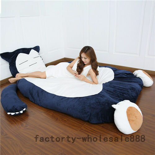Snorlax Tatami Sofa Filled Bed Carpet cartoon Go BeanbagカビゴンMattress 78''