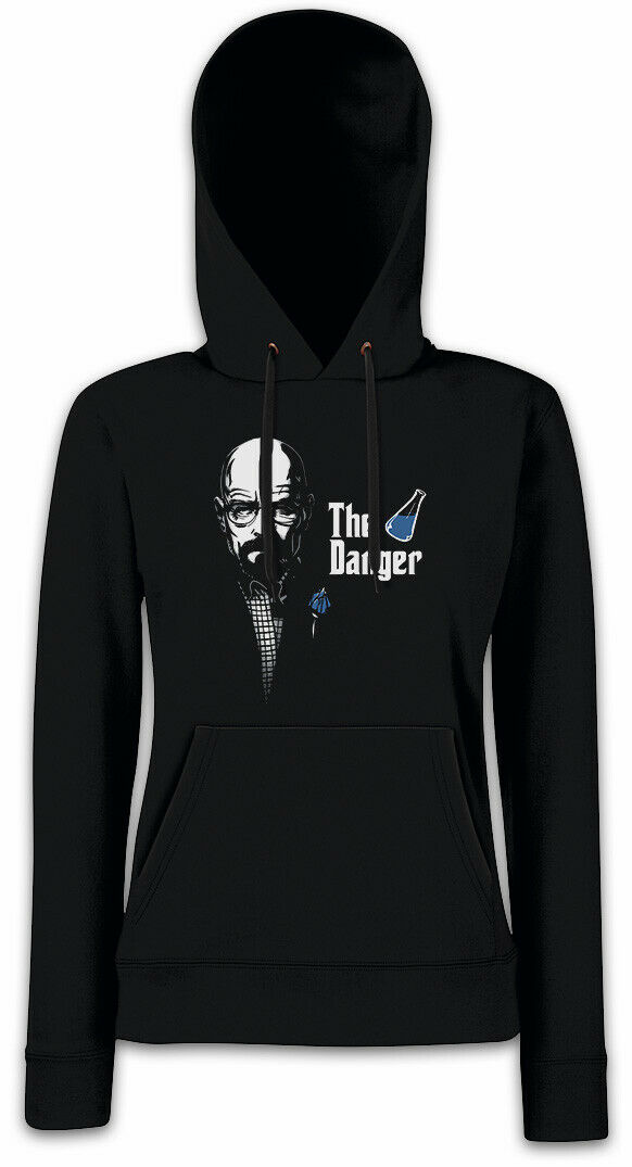 THE DANGER Damen Hoodie Kapuzenpullover Walter Breaking Weiß Heisenberg Bad   | Bunt,