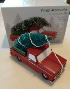 Dept 56 Here Comes Christmas Village Accessories 6003177 red truck snow tree  eBay