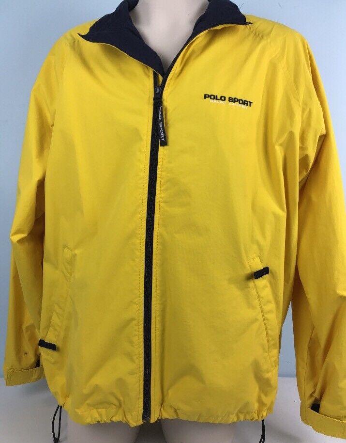 Polo Sport Ralph Lauren Full Zip Spell Out Windbreaker XL Yellow