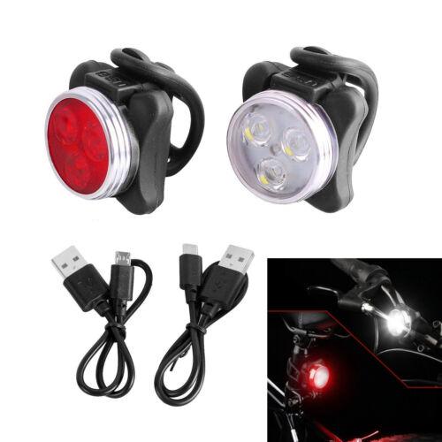 Bicycle Headlight USB LED Bike Lights Set USB Rechargeable Smart Waterproof