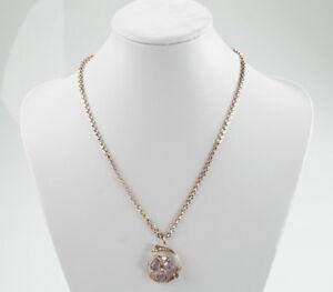Wunderschoene-Antike-333er-Gold-Halskette-mit-Anhaenger-Amethyst-Perle-8K-9-00g