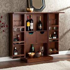 Southern Enterprises Fold Away Bar - Walnut HZ1020R Bar NEW