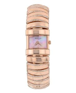 Parmigiani Fleurier Boa 18k Rose Gold Bracelet Diamond Ladies Watch PFA160