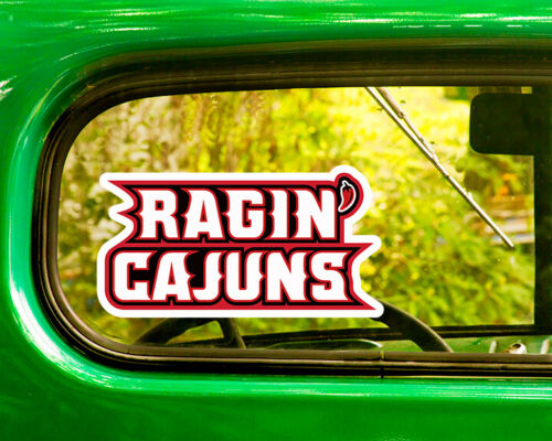 2 LOUISIANA RAGIN CAJUNS DECAL Stickers Bogo For Car Window Bumper Free Shipping