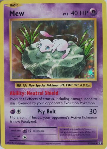Englisch NM//Mint XY Evolutions 2016 Mew 53//108 Holo Rare