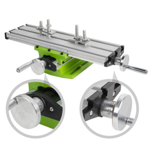 Milling Machine Work Table Cross Slide Bench Drill Press Vise Fixture【USA】