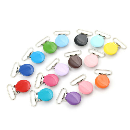 10x Mixed Color Infant Baby Metal Clips Pacifier Holders Alloy Suspender HooHFUK
