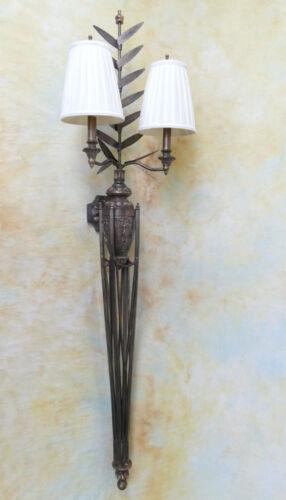 Wandlampe Lampe 2-armig Schmiedeeisen antik Look Landhaus vintage Burg PQ019-b