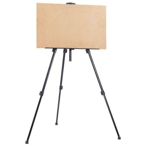 New Artist Display Painting Iron Folding Easel Light Weight And Carry Bag Black