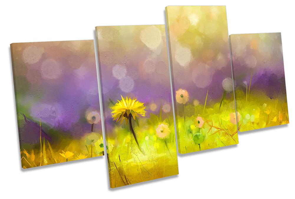 Majestic Floral Flores Flores Floral De Campo De Lona Pa rojo  Arte obras de arte impresión de múltiples 4083c6