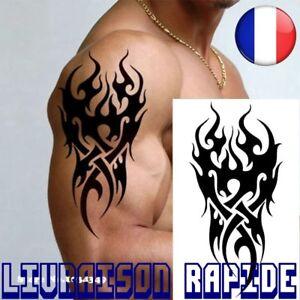 Temporaire Impermeable Tatouage Hommes Flamme Tatoo Tattoo Tribal 12 19 Cm Faux Ebay