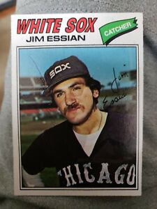 Jim Essian Autographed 1977 Topps Chicago White Sox FREE SHIPPING