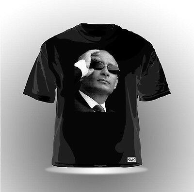 EAKS® HERREN T-SHIRT WLADIMIR PUTIN Schwarz #2 Russland Russia Moskau Kreml