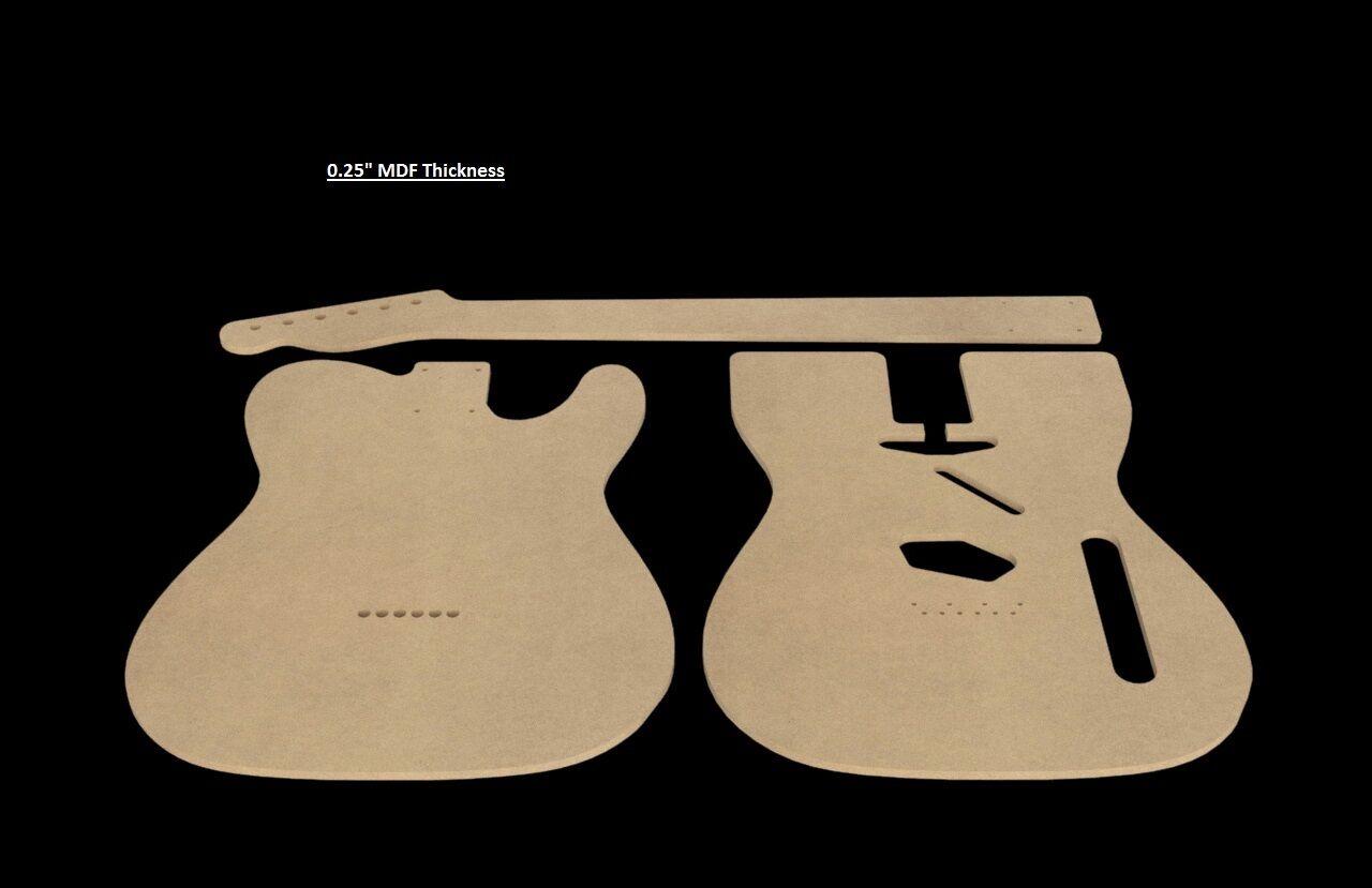 Telecaster Mdf Guitar Body And Neck Template 025 Thickness Cnc