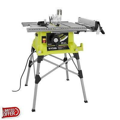 SALE Ryobi RTS21G 10 inch Portable Table Saw w/ Quick Stand