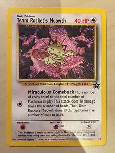 Rare! Excellent Condition Team Rocket/'s Meowth Promo #18 Pokemon Card