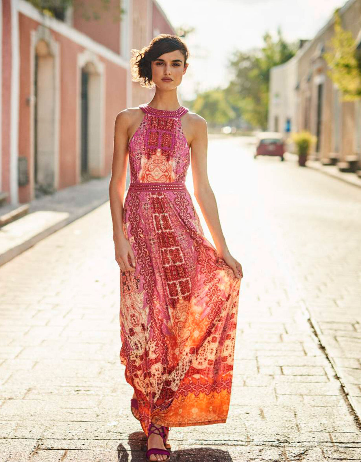 New Monsoon Preena Paisley Print Maxi Dress Größe 18 holiday beach wedding   3