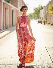 New Monsoon Preena Paisley Print Maxi Dress size 14 holiday beach wedding