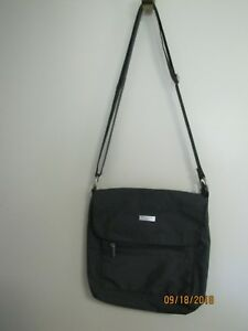 EUC-Baggallini-Gray-Small-Lightweight-Nylon-Crossbody-Shoulder-Bag-Purse
