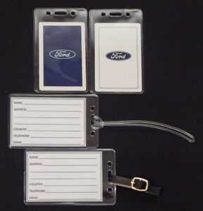 Set-of-2-Luggage-tags-w-Ford-playing-card